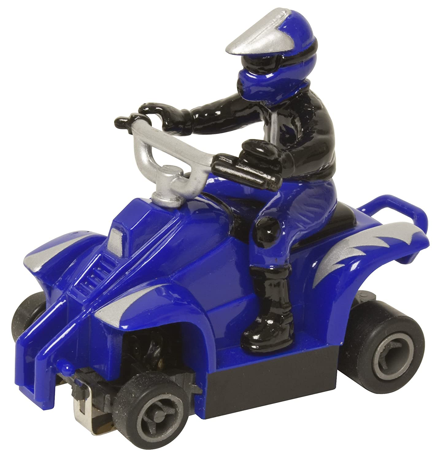 Blue with Silver Lightning Life Like ATV with Rider Fast Tracker Slot Car