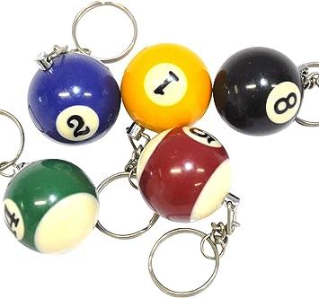 Llavero con Bola de Billar (Paquete de 12): Amazon.es: Juguetes y ...