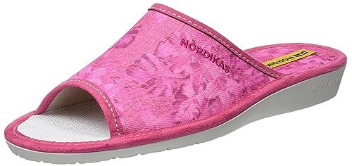 Nordikas DBaño Sra, Zapatillas de Estar por Casa con Talón Abierto para Mujer, Gris (Perla), 38 EU Nordikas