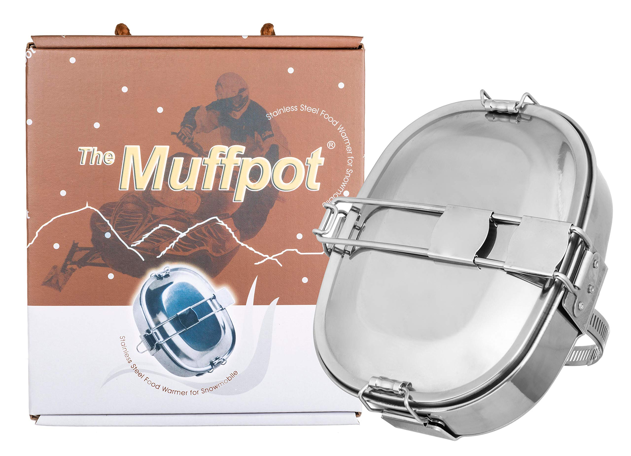 Muffpot Snowmobile Exhaust Pipe Food Warmer Stainless Steel Artic Cat Yamaha by fortunershop