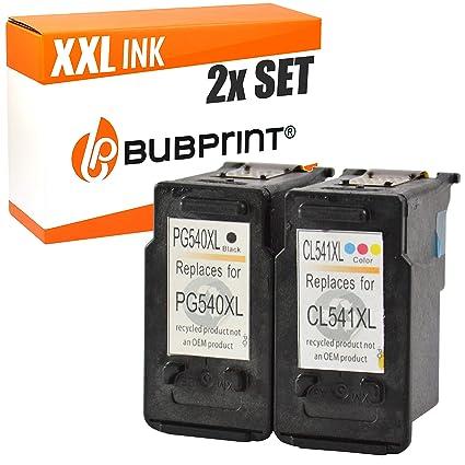 Bubprint Cartuchos de Impresora Compatible con Canon pg-540 y cl ...