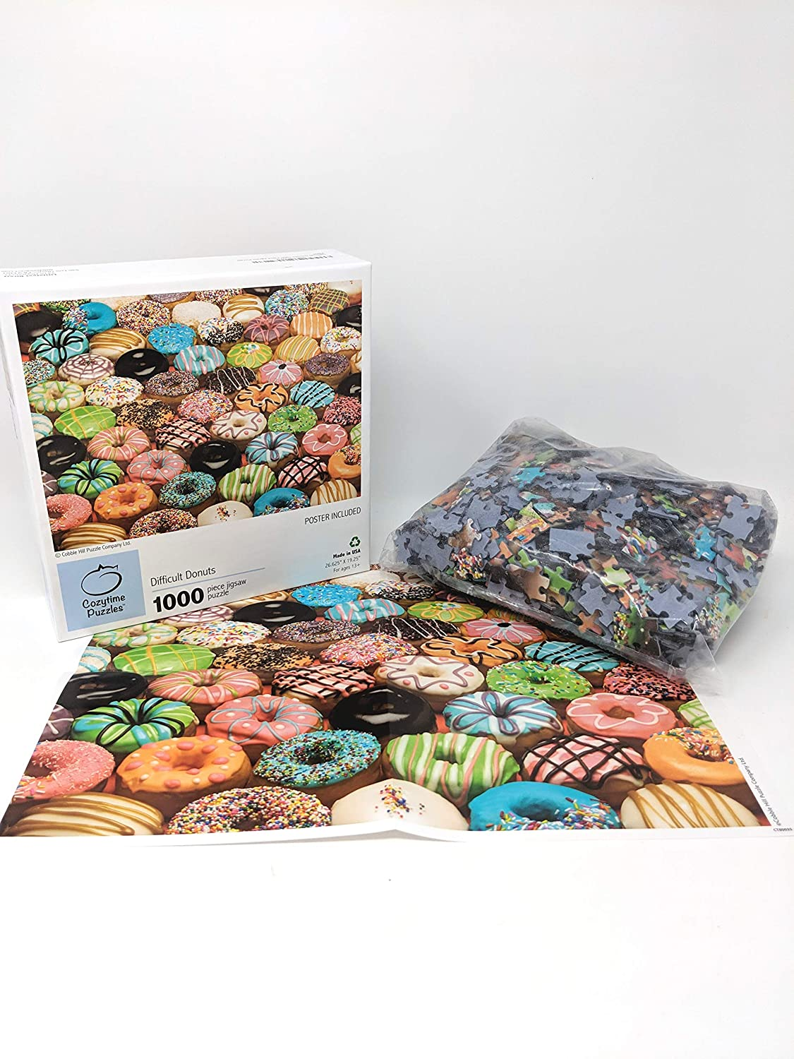 1000 Pieces Littlefeet Direct Jigsaw Puzzle Difficult Donuts