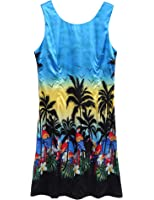 Husband or Wife Hawaiian Luau Outfit Aloha Shirt Tunic Slip On Dress