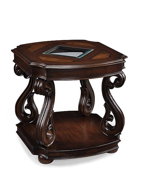 Amazon.com: Magnussen t1648 Harcourt Madera mesa rectangular ...