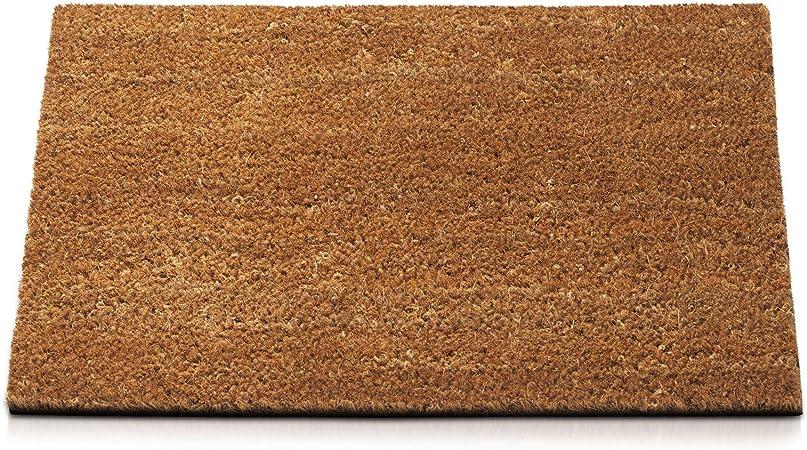 Casa Pura Dirt Trapper Mat Coir Doormat Natural Welcome Mat Coconut Fibre Non Slip Front Door Mat 17mm Thickness 50x80 Cm Amazon Co Uk Kitchen Home