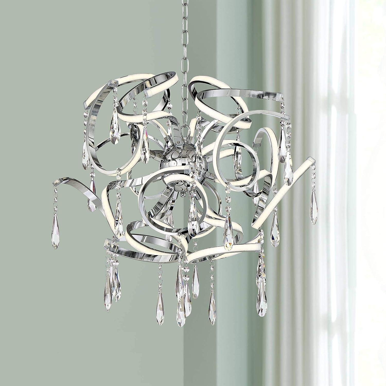 Possini Euro Curlz 25 Wide Chrome Led Pendant Light