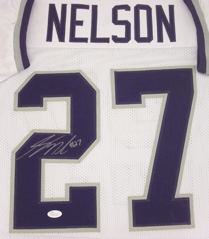 hot sale online f6109 95487 Kansas State Jordy Nelson #27 Autographed White Jersey ...