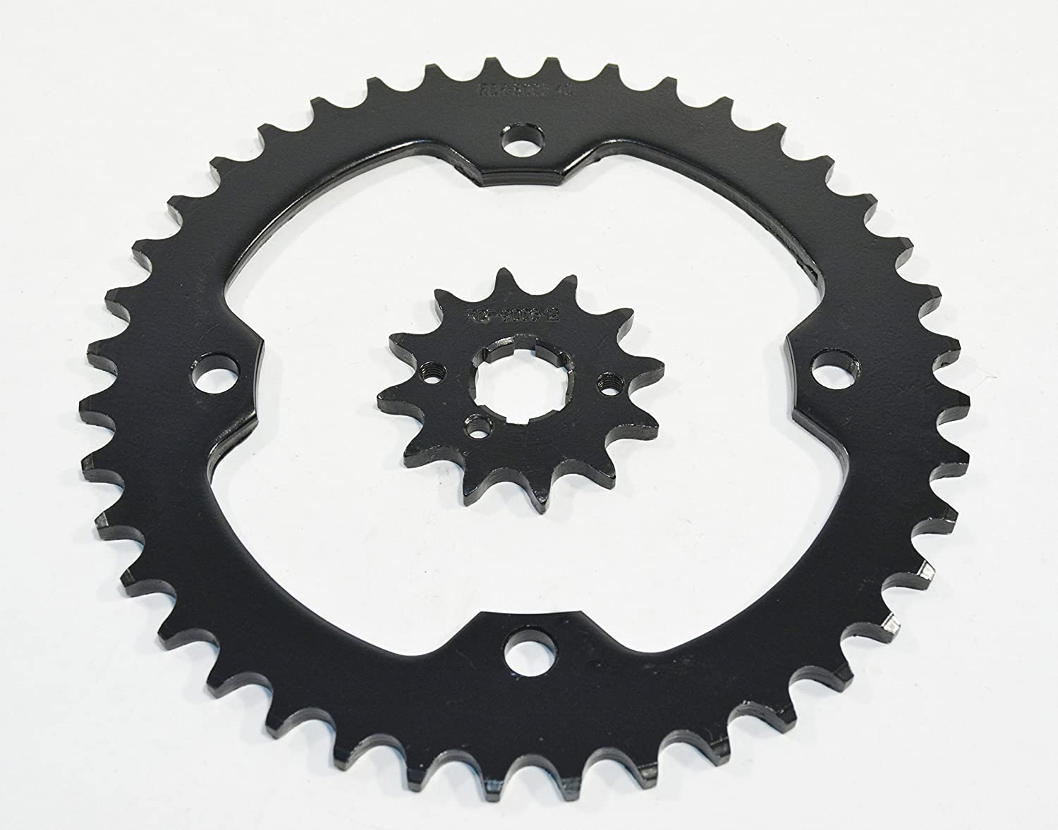 87-1988 Yamaha YFM350 350 Warrior 12 Tooth Front & 40 Tooth Rear Black Sprocket Race-Driven