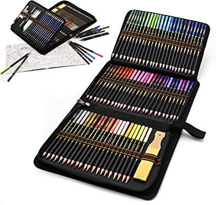 Estuche de lápices de colores para dibujo profesional, Set de 96 piezas Set de Dibujo Artista Kit para libros de colorear o útiles escolares para Artistas, Estudiantes, Niños y Adultos: Amazon.es: Oficina