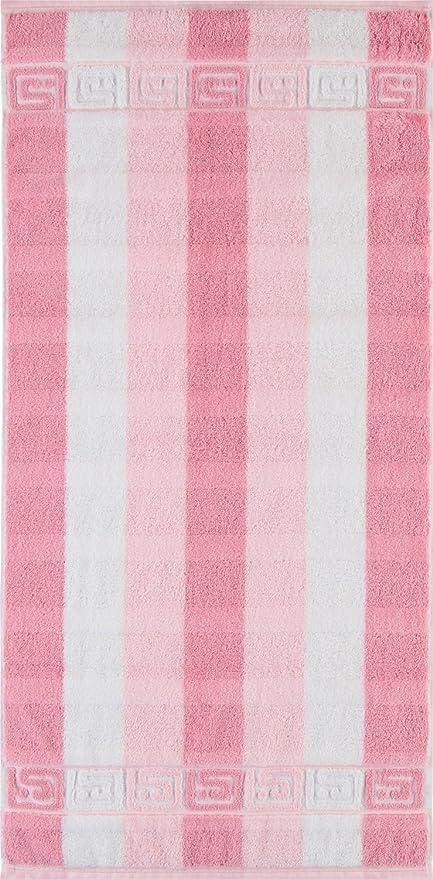 Cawö – Noblesse Walk a rayas de toallas de con cenefa de (Rosa),
