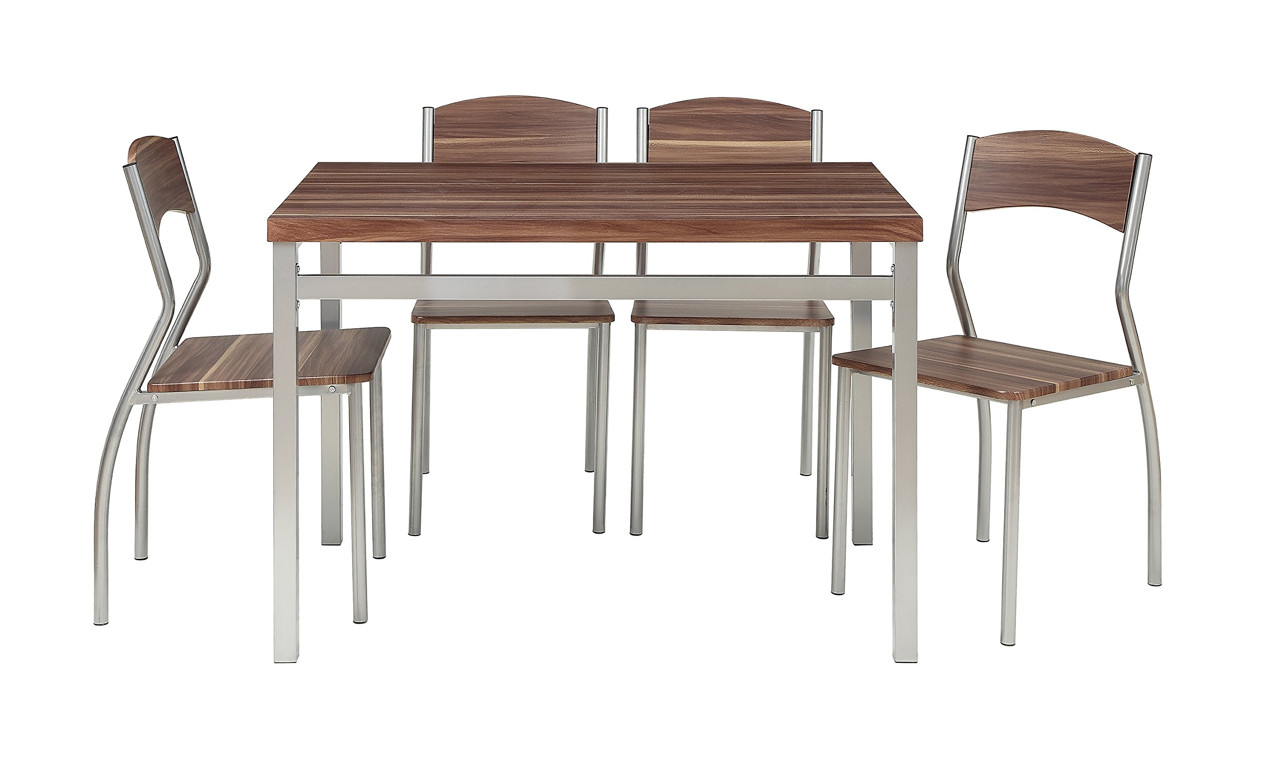Abington Lane 5-Piece Dining Table Set with 4 Chairs - Modern and Sleek Dinette (Cedarwood Finish) by Abington Lane (Image #2)