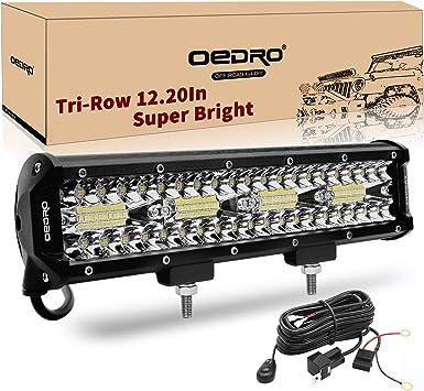 Car ATV UTV Pickup 12inch 72w LED Light Bar Work Spot Flood Combo Beam 4wd