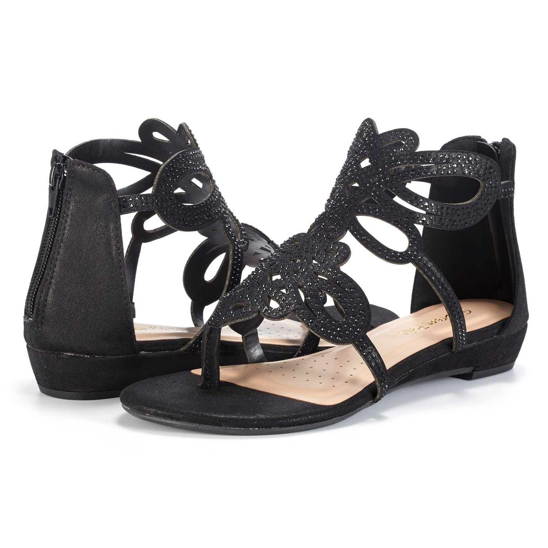 a22612498 Women JEWEL 02 DREAM PAIRS Women s Jewel Rhinestones Design Ankle High Flat  Sandals