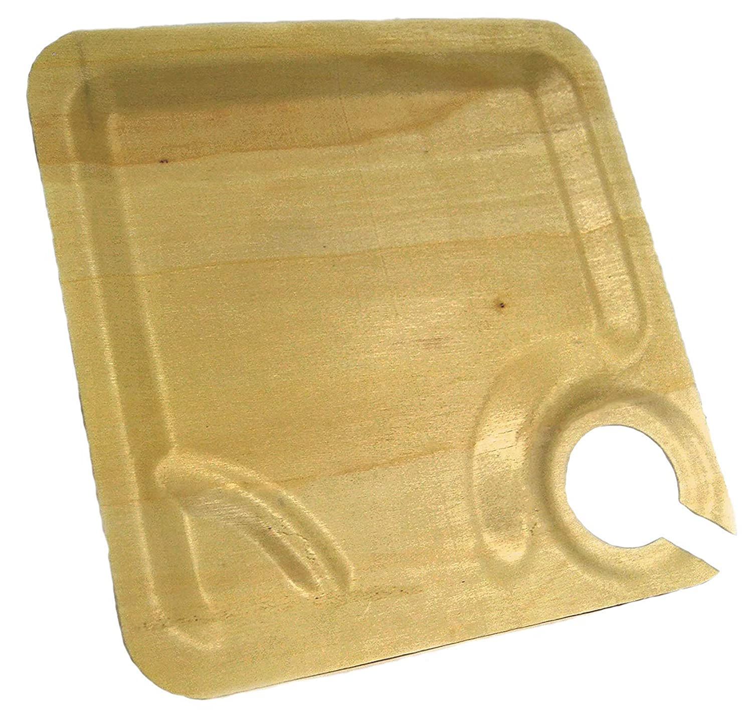Perfect Stix Cocktail 10-25ct Wooden Disposable Appetizer Wine Holder Plate (Pack of 25)
