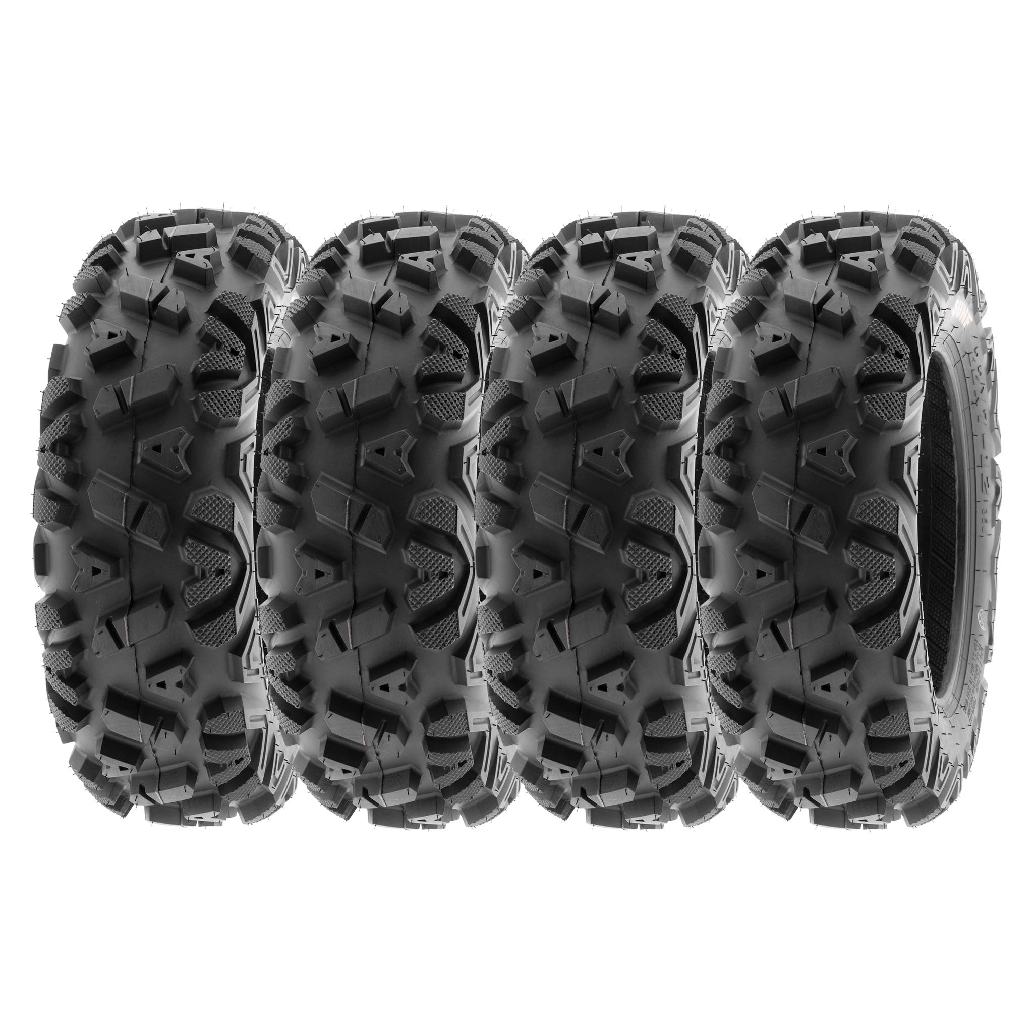 SunF ALL TERRAIN ATV UTV 6 Ply Race Tires 22x7-12 22x7x12 Tubeless A033 POWER I, [Set of 4]