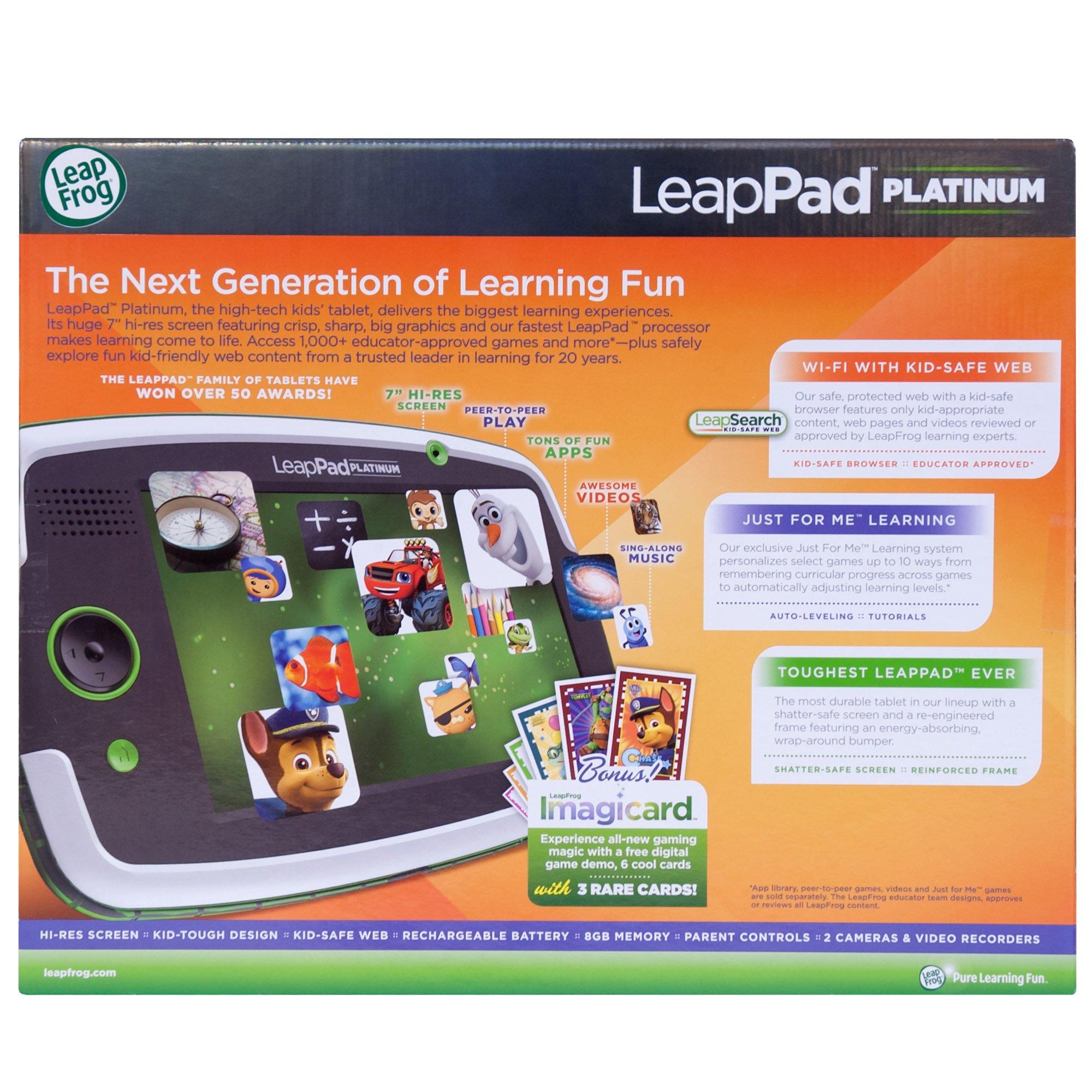 LeapFrog LeapPad Platinum Kids Learning Tablet, Green by LeapFrog. (Image #5)