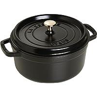 Staub 65013 Round Cocotte, 24 cm, Black