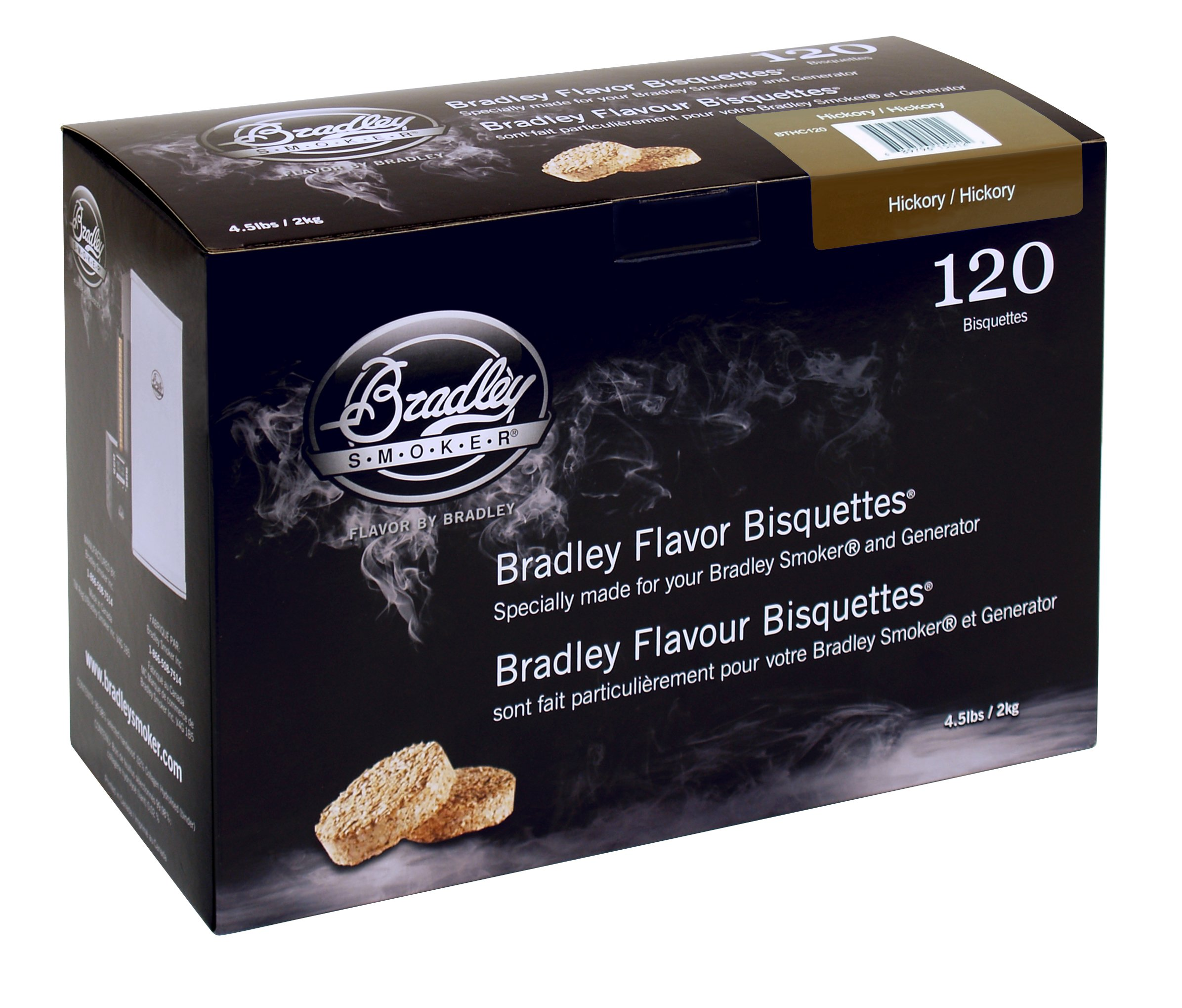 Bradley Smoker BTHC120 Hickory Bisquettes 120 pack by Bradley Smoker