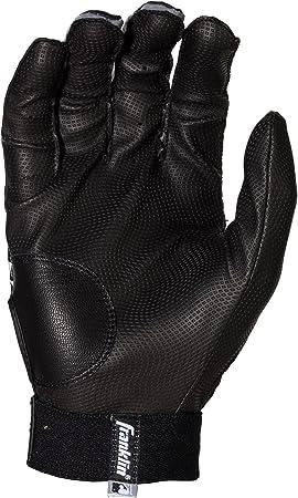 tama/ño Adult L Guantes de bateo Franklin Sports 2nd-Skinz Color Negro