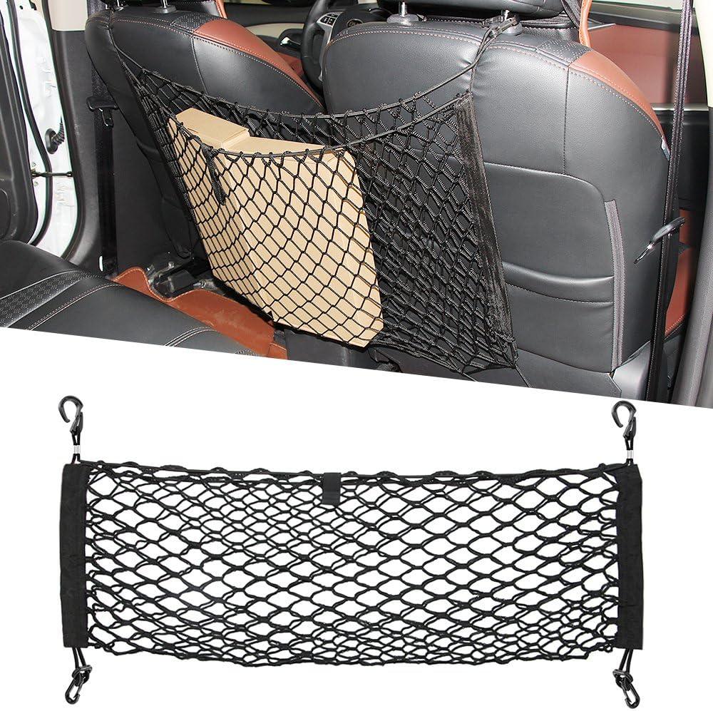 9 MOON Cargo Net - Dog Barrier, Back Seat Cargo Storage Tidy Net Webbing Trunk - Mesh Net Hammock Cargo Truck Organizer