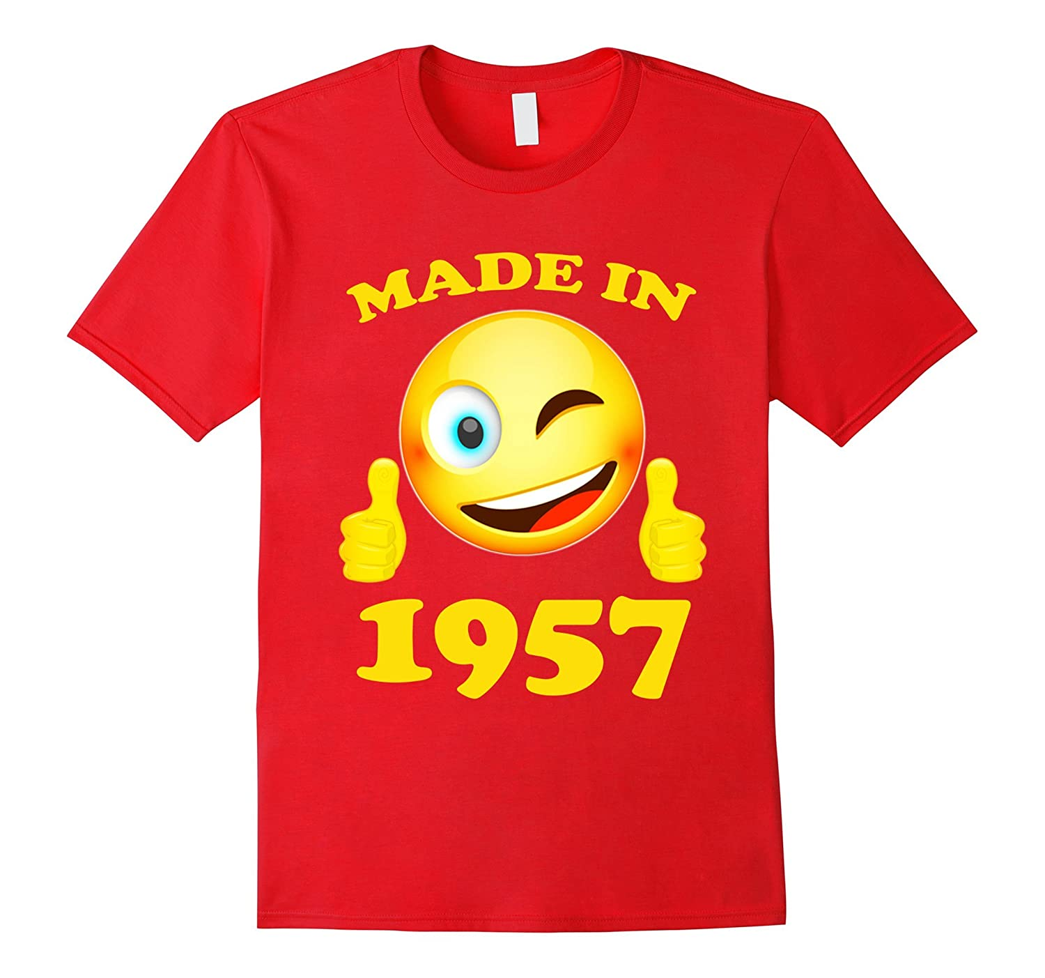 Emoji Shirt Made In 1957 60 Years Old 60th Birthday Gift ANZ