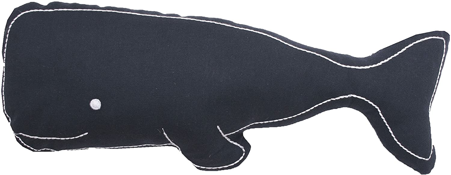 Thro by Marlo Lorenz TH007322008E Wally Whale Shaped Throw Pillow, Navy