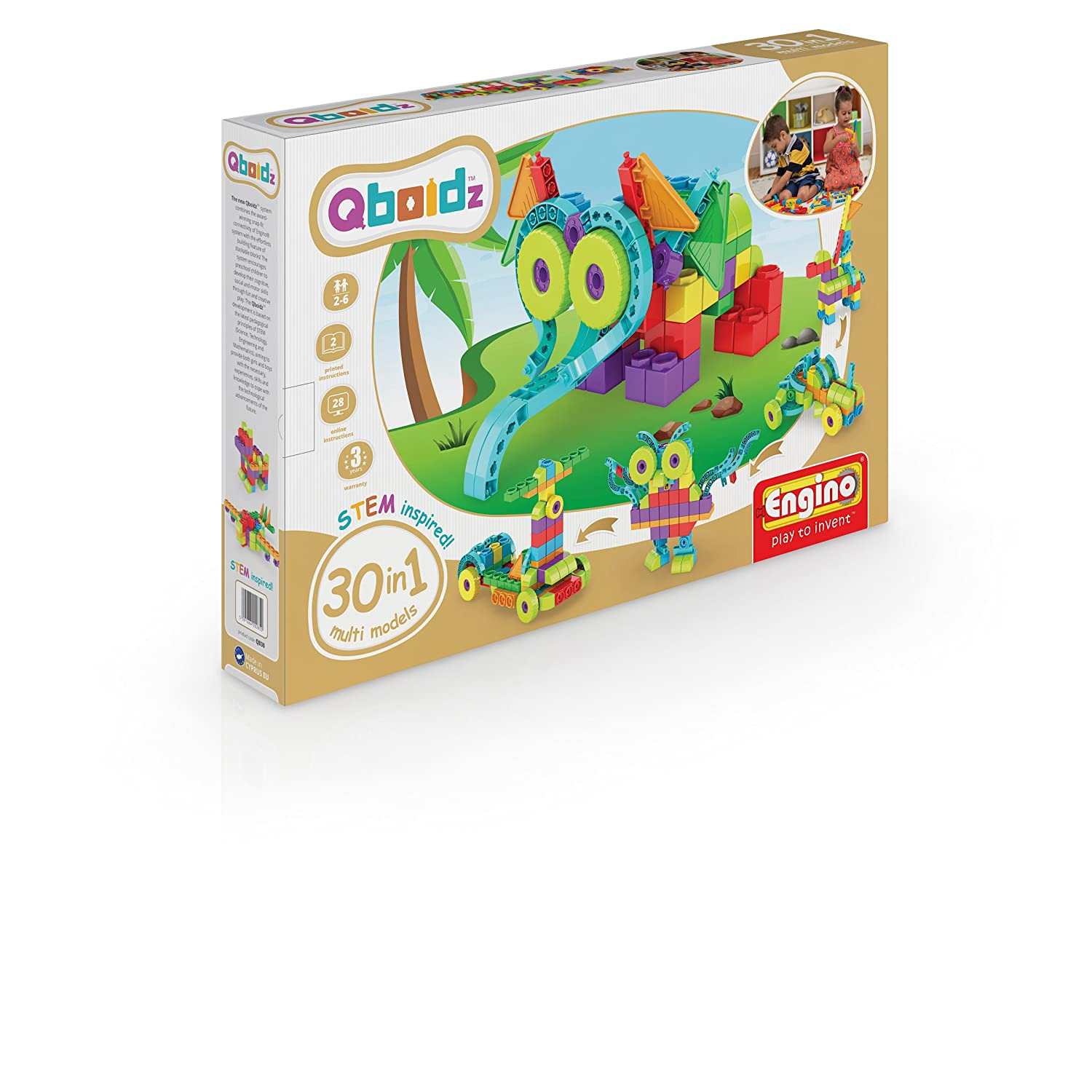 Engino Qboidz 30 in 1 Set Multi Models Building Kit