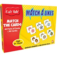 Kidz Valle Match-a-Like - Match The Cards, Memory Matching Game 48 Pairs of Cards (96 Cards)