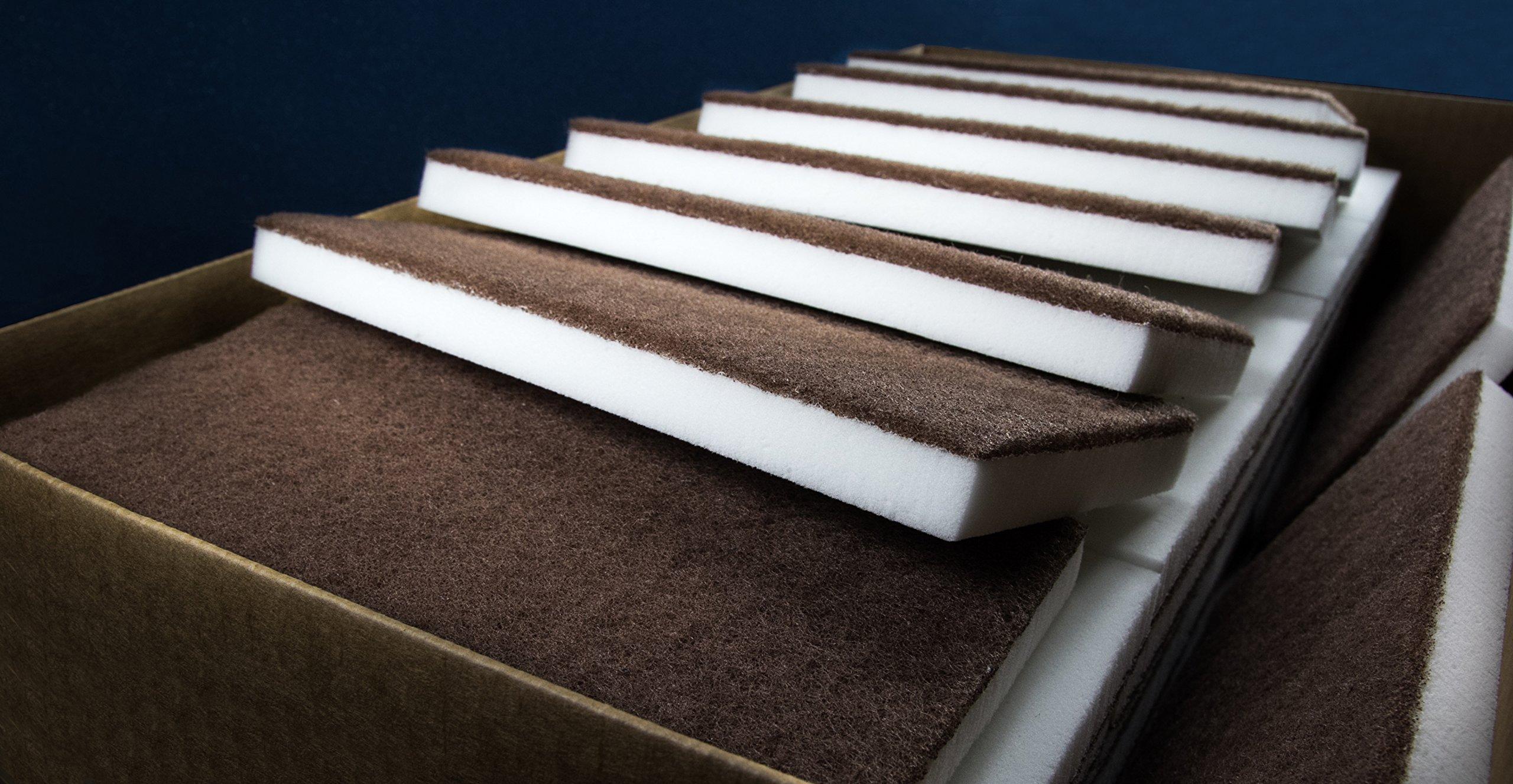 Sponge Outlet 60 Pack of Eraser Mop Floor Cleaning Pads BASF Basotect Foam