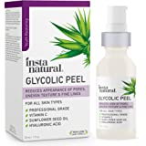 Glycolic Acid Facial Peel - With Vitamin C, Hyaluronic Acid - Best Treatment to Exfoliate Deep, Minimize Pores, Reduce…