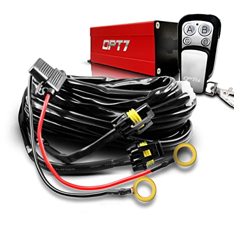 Amazon.com: OPT7 LED Light Bar Wiring Harness with Wireless Remote on wiring a automotive relay, fan relay switch, wiring a contactor relay, wiring a latching relay, wiring a horn relay, wiring a fuel pump, testing a relay switch, wiring a push button, wiring a time delay relay, wiring a relay circuit,