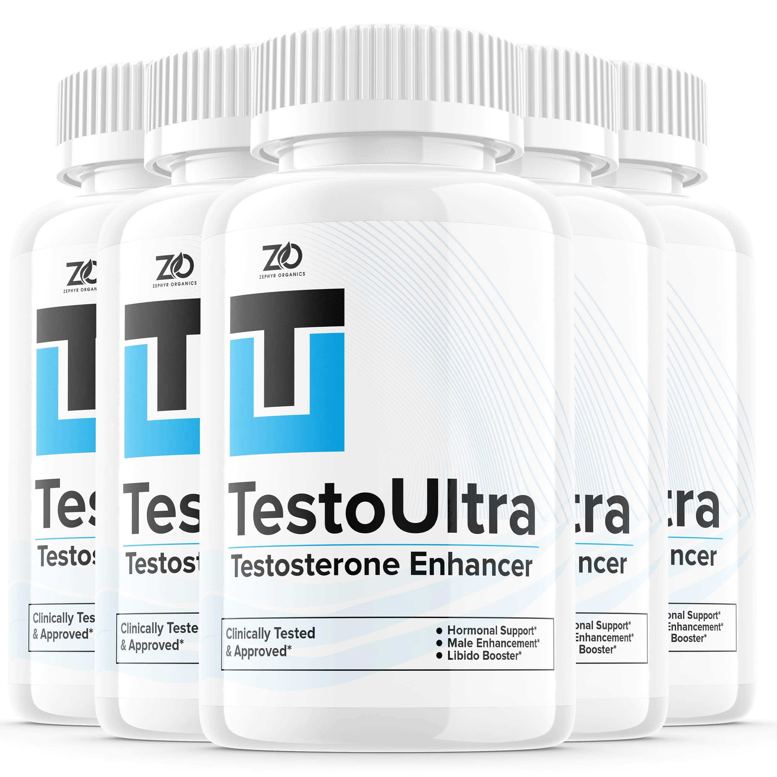 (5 Pack) TestoUltra Capsules Pills for Men Natural Testo Ultra for Man Enhancement Booster Alpha Male - Testoultra Supplement Support - Pastillas Supplemento (300 Capsules)