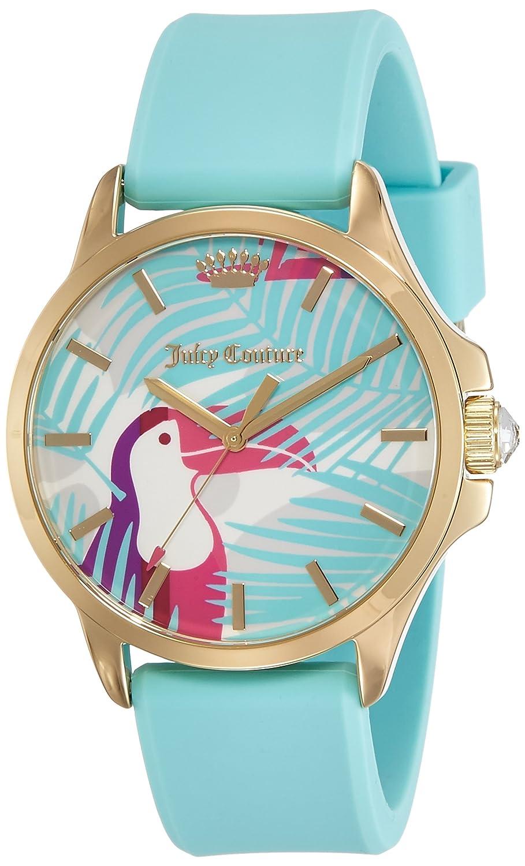 Juicy Couture Daydreamer Damen Quarzuhr mit Blau Zifferblatt Analog Display und Blau Gummiband 1901426