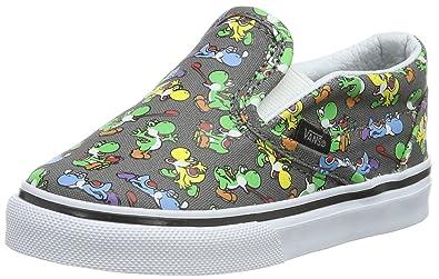 233c652549 Vans Slip On Infant Toddlers Yoshi Pewter Shoes (4.5)