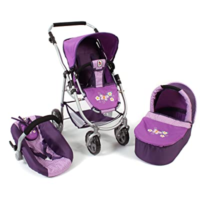 Bayer Chic 2000 637 28 3 in 1 Combi ALL IN EMOTION, Purple Checker by Bayer Chic