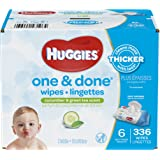 Huggies One and Done Baby Wipes - Cucumber & Green Tea Scent - 336 ct