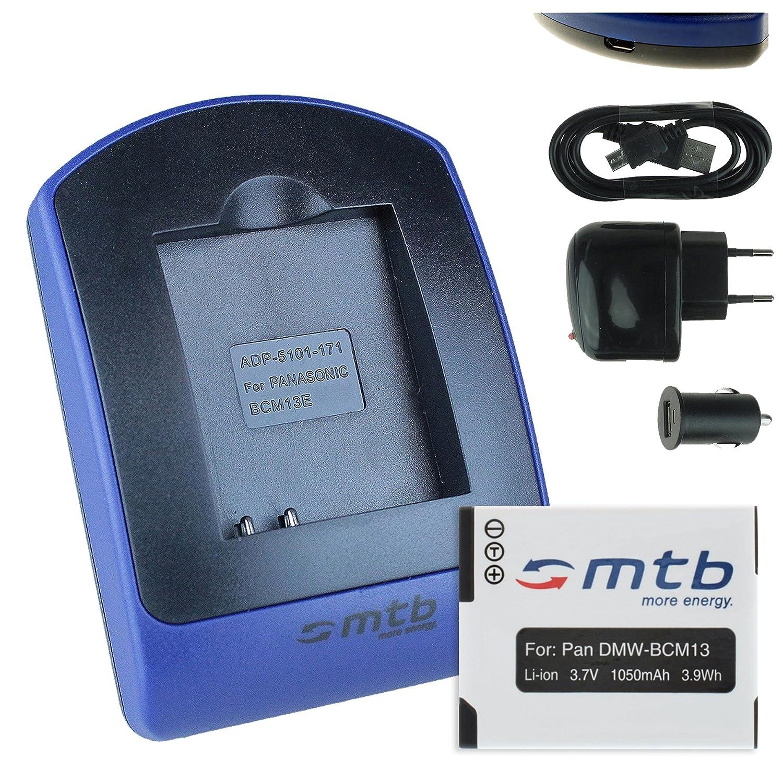 Baterìa + Cargador (USB/Coche/Corriente) para Panasonic DMW-BCM13 / Lumix DMC-FT5, TS5, TZ37, TZ40, TZ60, TZ71, ZS30, ZS40.. - ver lista