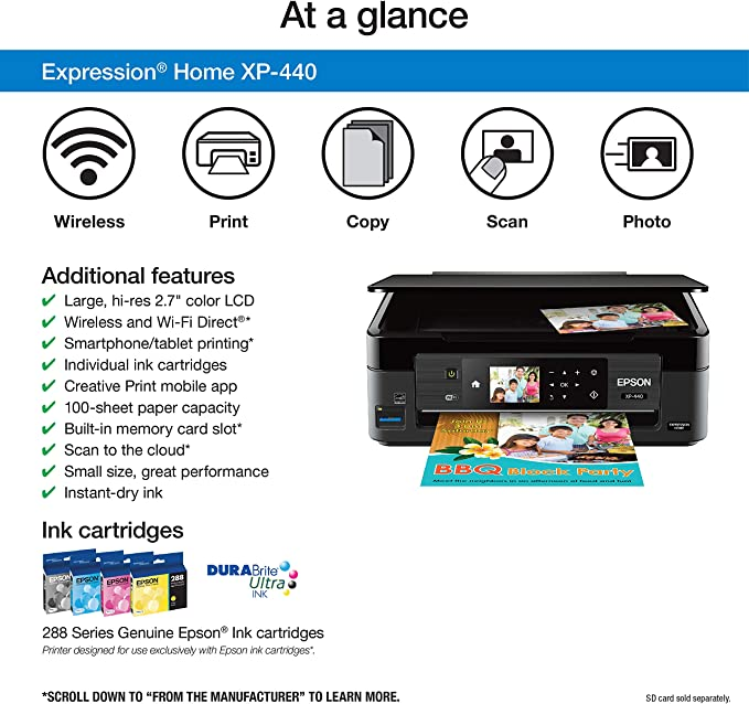 Amazon.com: Epson Expression Home XP-440 Impresora ...