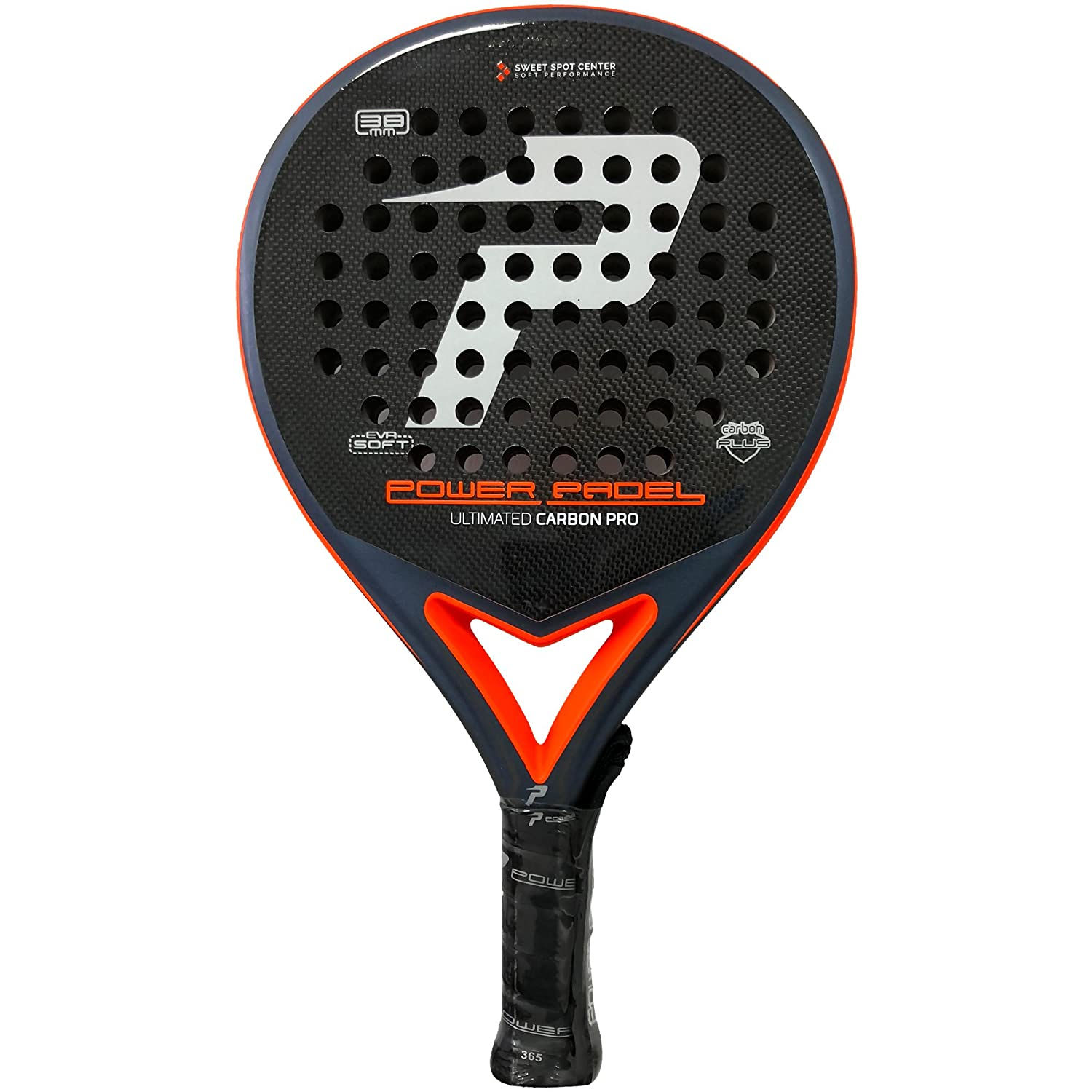 Pala Power Padel Ultimated Carbon Pro Silver / Orange Mate: Amazon.es: Deportes y aire libre