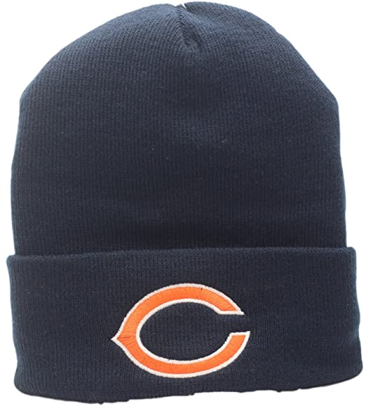 best website bc423 dd5eb Image Unavailable. Image not available for. Color  Chicago Bears Big C Logo Cuffed  Knit Hat A100000
