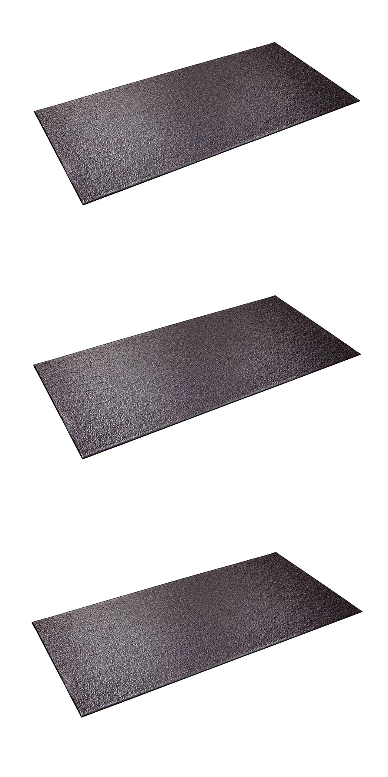 SuperMats Heavy Duty Equipment Mat 13GS Made in U.S.A. for Indoor Cycles Recumbent Bikes Upright Exercise Bikes and Steppers (2.5 Feet x 5 Feet) (30-Inch x 60-Inch) (Тhrее Расk)