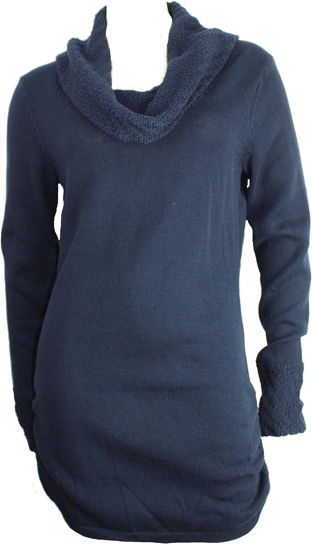 Calvin Klein Womens Long Waisted Cowlneck Sweater