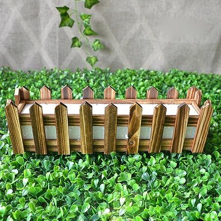 FLAMEER Maceta De Madera Creativa Caja De Jardinería Flor De Jardín Yarda Hierba Suculenta Maceta De Planta - 30 * 7 * 9 cm: Amazon.es: Hogar