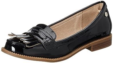 XTI Black Mirror PU Ladies Shoes, Mocasines para Mujer, Negro, 37 EU: Amazon.es: Zapatos y complementos