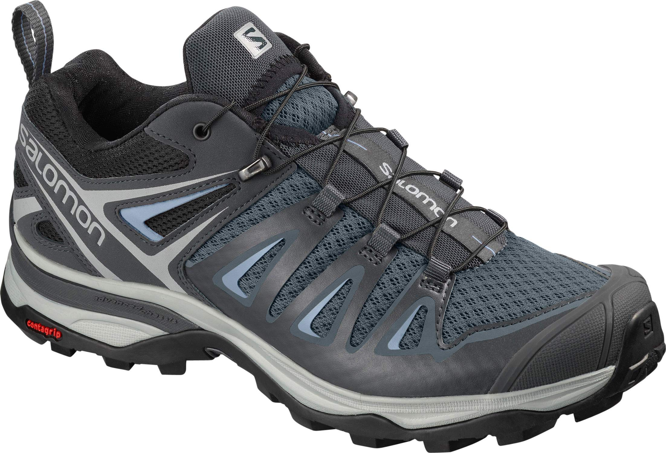 SALOMON Women's X Ultra 3 W Hiking Shoe, Stormy Weather/Ebony/Cashmere Blue by SALOMON