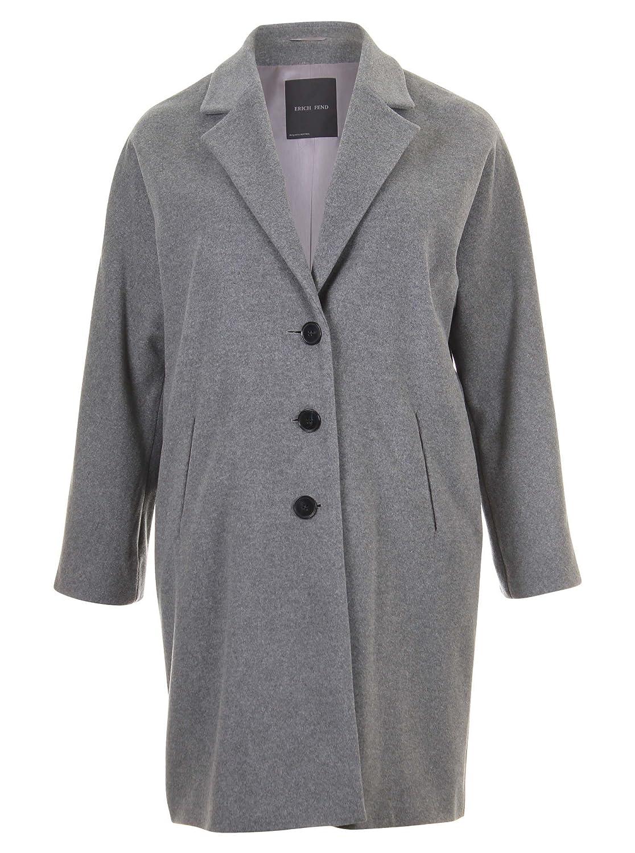 Eleganter Mantel in grau in Übergrößen (44, 46, 48, 50, 52) von Erich Fend