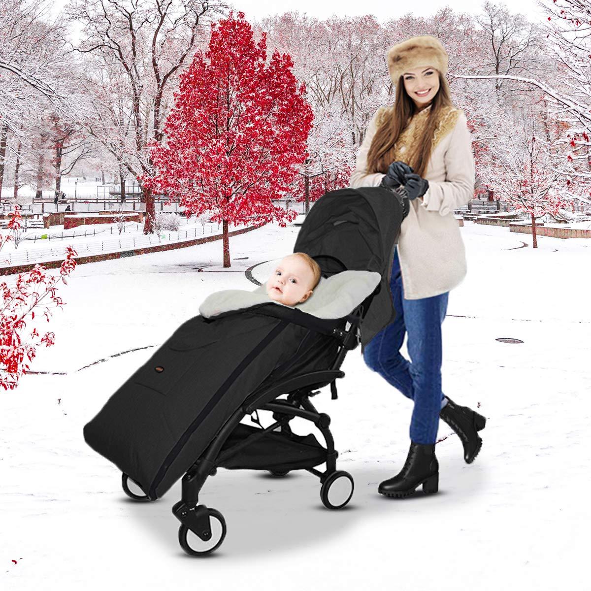 Negro AUVSTAR Saco de Dormir T/érmico Universal para Beb/é,Saco para silla de Paseo,Sacos de Abrigo para Carritos,Mantas Envolventes Invierno para Cochecito,Multifuncional Beb/é Cubrepiernas Impermeable