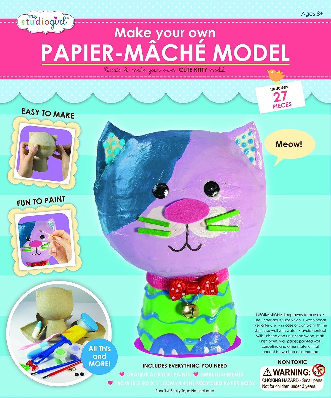 My Studio Girl Papier Mache Cat Kit University Games 67154