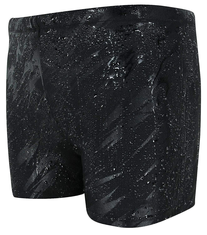 Vocni Mens Compression Quick Dry Rapid Swim Splice Square Leg Short Jammer Swimsuit