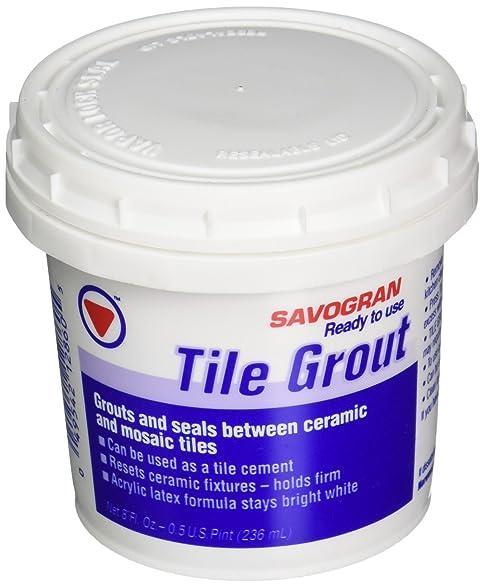 Savogran 12860 ReadyToUse Tile Grout 8 Fl Oz Amazoncom